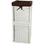 Oriental Furniture Laundry Hamper; White