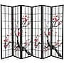Oriental Furniture 70.25'' x 85'' Bamboo Blossom 6
