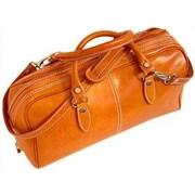 Floto Imports Venezia Leather Mini Duffle Satchel Bag; Blue