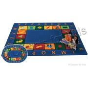 Carpets for Kids Printed Bilingual Circletime Area Rug; Oval 6'9'' x 9'5''