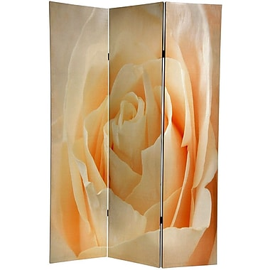 Oriental Furniture 71'' x 47.63'' Birds and Flowers 3 Panel Room Divider