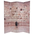 Oriental Furniture 70.88'' x 63'' Wailing Wall 4 Panel Room Divider
