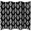 Oriental Furniture 70.88'' x 94'' Double Sided Damask 6 Panel Room Divider