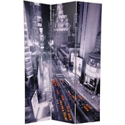 Oriental Furniture 70.88'' x 47'' New York State of Mind 3 Panel Room Divider