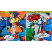 Oriental Furniture 71'' x 63'' Classic Tall Double Sided Superman 4 Panel Room Divider