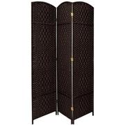 Oriental Furniture 82.75'' x 59.25'' Diamond Weave 3 Panel Room Divider
