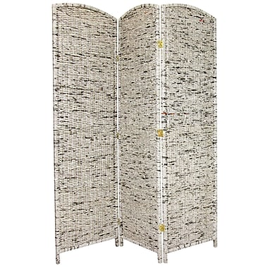 Oriental Furniture 71.5'' x 59.25'' 3 Panel Room Divider