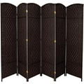 Oriental Furniture 82.75'' x 118.5'' Diamond Weave 6 Panel Room Divider