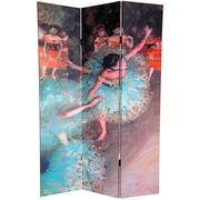Oriental Furniture 72'' x 48'' Double Sided Works of Degas 3 Panel Room Divider