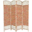 Oriental Furniture 67'' x 63'' Recycled Magazine 4 Panel Room Divider