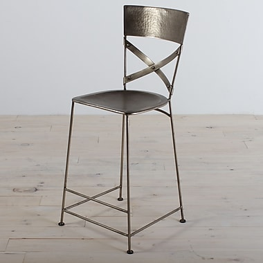 Wildon Home   Jabalpur 26'' Bar Stool; Antique Nickel