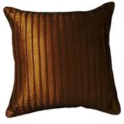 LR Resources Marlene Throw Pillow; Chocolate