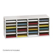 Safco Products Medium Wood Adjustable-Compartment Literature Organizer; Gray