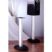 VTI VSP Series 29'' Fixed Height Speaker Stand (Set of 2); Black Base/Silver Pole