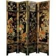 Oriental Furniture 72'' x 64'' Four Seasons Flowers 4 Panel Room Divider