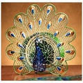 Deco Breeze Peacock Figurine Table Top Fan