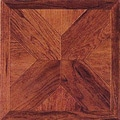 Home Dynamix 12'' x 12'' Wood Cross Vinyl Tile in Cherry