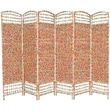 Oriental Furniture 67'' x 94.5'' Recycled Magazine 6 Panel Room Divider