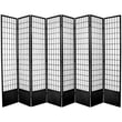 Oriental Furniture 83.5'' x 112'' Window Tall Pane Shoji 8 Room Divider; Black