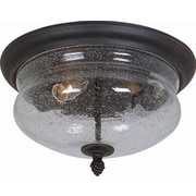 Artcraft Lighting Premiere 2 Light Outdoor Flush Mount; Natural Black