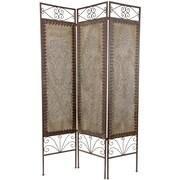 Oriental Furniture 70.5'' x 46.5'' Mediterranean 3 Panel Room Divider