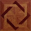 Home Dynamix 12'' x 12'' Vinyl Tile in Wood Star; 20 Pieces