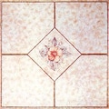 Home Dynamix 12'' x 12'' Vinyl Tile in Machine Light Pink Flower