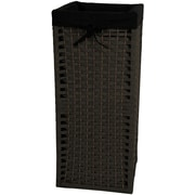 Oriental Furniture Laundry Hamper; Black
