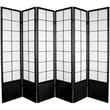 Oriental Furniture 70.25'' x 84'' Asian Zen 6 Panel Room Divider; Black