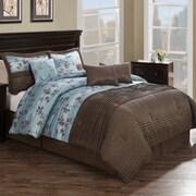 Monroe Pleat 8 Piece Comforter Set; Queen