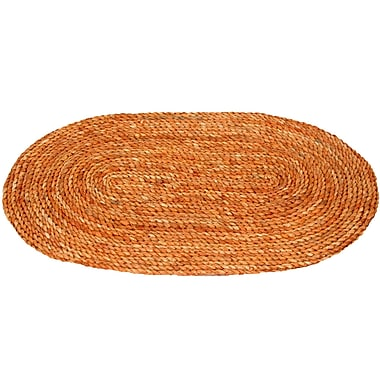 Oriental Furniture Maize Honey Oval Area Rug; 30'' x 18'' x 0.5''