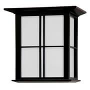 Oriental Furniture Japanese Cross Lattice Wall Sconce; Black