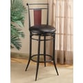 Hillsdale Midtown 30'' Swivel Bar Stool with Cushion