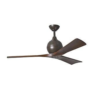 Matthews Fan Company 52'' Irene 3 Blade Ceiling Fan with Wall Remote; Textured Bronze
