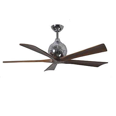 Matthews Fan Company 52'' Irene 5 Blade Ceiling Fan with Wall Remote; Polished Chrome