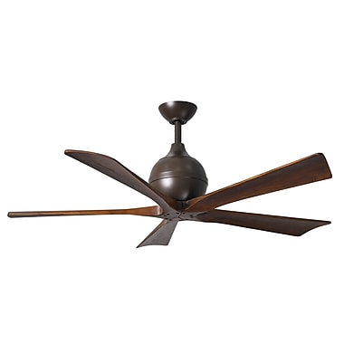 Matthews Fan Company 52'' Irene 5 Blade Ceiling Fan with Wall Remote; Textured Bronze