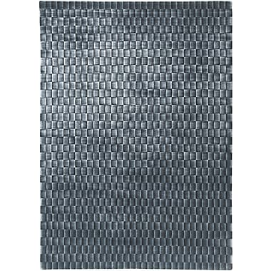 LR Resources Super Grey Rug; 5' x 7'