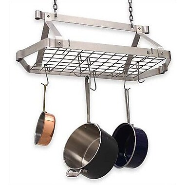 Enclume Retro Rectangle Pot Rack; Stainless Steel