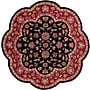LR Resources Shapes Black/Red Persian Area Rug; Scallop