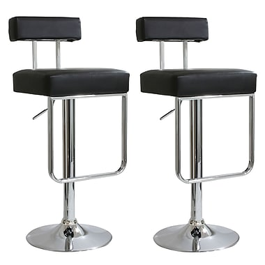 Buffalo Tools AmeriHome Adjustable Height Swivel Bar Stool with Cushion (Set of 2)