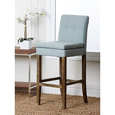 Abbyson Living Laura 19.5'' Bar Stool with Cushion; Blue