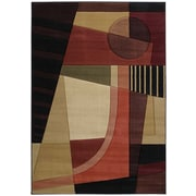United Weavers of America Contours Urban Angles Red Rug; 5'3'' x 7'6''