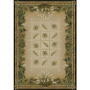 United Weavers of America Genesis Green/Beige Palmetto Natural Area Rug; 7'10'' x 10'6''