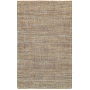 LR Resources Natural Fiber Blue Area Rug; 5' x 7'9''