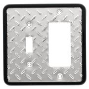 Brainerd Diamond Plate Single Switch/Decorator Wall Plate