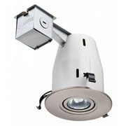 Lithonia Lighting 4'' Recessed Lighting Kit; Nickel