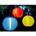 Smart Solar Set of 3 Chinese Round Solar Lanterns (Set of 3)