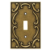 Brainerd French Lace Single Switch Wall Plate; Burnished Antique Brass