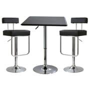 Buffalo Tools AmeriHome 3 Piece Adjustable Height Pub Table Set