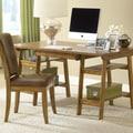Hillsdale Park Glen Desk and Chair Set; Medium Oak